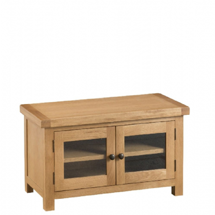 Oslo Oak Standard TV Unit with Glazed Doors